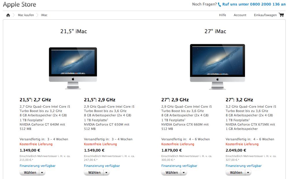 Apple Store iMacs