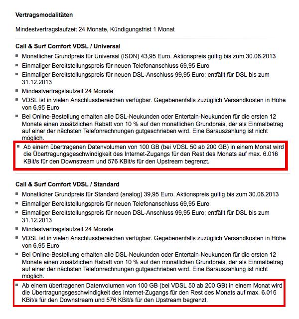 Aktuelle Vertragsmodalitäten beim Abschluss eines Telekom-DSL-Vertrages