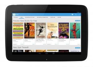 Der neue Look des Google Book Store auf einem Tablet
