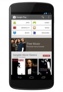 Der neue Look des Google Play Store auf einem Smartphone
